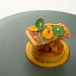 ラッフィナート - 料理写真:明石の穴子 かぼちゃとサフランの焼きリゾット