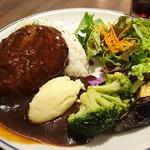 スワン食堂 - デミグラスソースハンバーグプレート