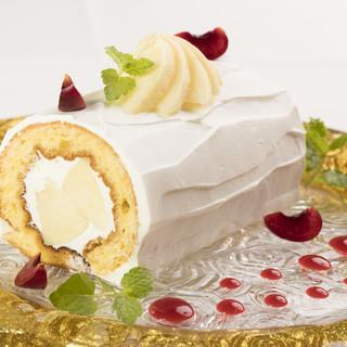 誕生日記念日特別ロールケーキ