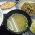 1055865 - 牛鮭定食