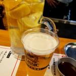 鉄板パラダイス リキヲ - 男気レモンサワーやっぱでけー