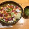 蛇の目寿司 - 料理写真:「バラちらし」1100円+「大盛り」100円(税込) 茶碗蒸し、みそ汁付き