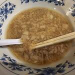 大勝軒 - 小豚 スープの状態
