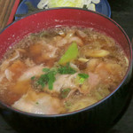 105511862 - 肉汁の具は豚バラ肉・スライス椎茸・長ねぎ