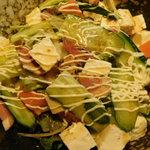 お好み焼き食べ放題 大地の宴 - サラダ付(たこ焼き食べ放題)