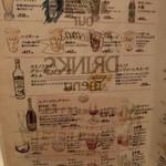 APIZZA - アルコールめにゅー
