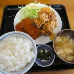 すず春食堂 - 料理写真:から揚げミックス定食700円
