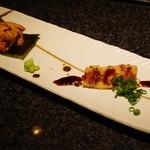 神楽坂 鉄板焼 向日葵 - 焼きご飯と海胆、焼き穴子