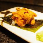 神楽坂 鉄板焼 向日葵 - 焼きご飯と海胆
