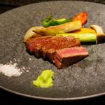 神楽坂 鉄板焼 向日葵 - 黒毛和牛フィレステーキ、焼き有機野菜