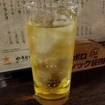 やきとり颯 - 緑茶割り 300円