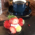 105561560 - ガトーショコラとトラジャコーヒー