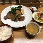 オレガノ食堂 - サーロインステーキ定食