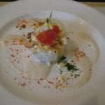 10557606 - オードブル  チキンとポテトのミモザ風サラダ