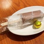 ザ ホームラン バー - クーポン特典のプチデザート(ホームランバーと野球ボール型チョコレート)