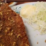 日高屋 - イワシフライ230円に辛子をちまちまW