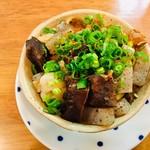 大衆スタンド きもと - 牛モツ煮(醤油)