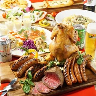 【飲み放題付きプラン】肉を食べ尽くす!ビアガーデンスタイル
