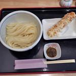 麦穂 - 料理写真:青唐辛子うどん冷ちくわ天付き