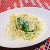 クレメンティア - 料理写真:サーモンとブロッコリーと生青のりのクリームソース