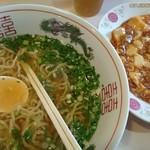 一品菜 - 万能ネギとニラ入り麺と麻婆豆腐