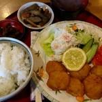 うえむら - ホタテフライ定食(1000円)