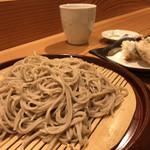 浜町かねこ - かき天ざる  1400円  (並盛り)