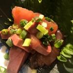 とりやき 喜助 - りゅうきゅう(刺身を調味料に漬け込んだ大分の郷土料理)