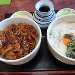 飯の - 料理写真:十勝満腹セット  950円(税込)