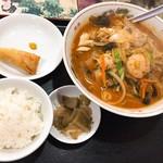 新雪園 - 辛口チャンポン麺セット(税抜800円)