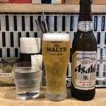 105620009 - 水 + ビール