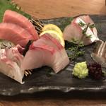 日吉 金魚 - お造り5種盛り