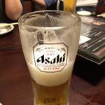 とり粋 - 生ビール