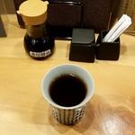 日本酒の魚枡 - お茶