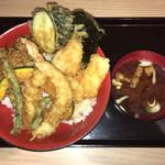 江戸前天丼 いしのや - 料理写真:江戸前天丼+赤だし