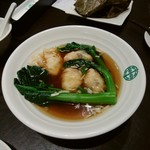 105633939 - 海老ワンタンと青菜のスープ(Prawn, Bamboo Shoots And Black Fungus Dumplings Soup)