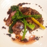 105639172 - 岩中豚のグリエ 春野菜添え バルサミコソース