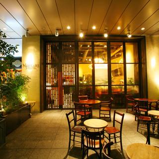 立川駅そばでペットと一緒の食事ができます