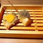 天ぷら串ともつ鍋 奥志摩 - 大根の天ぷら