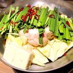 天ぷら串ともつ鍋 奥志摩 - もつ鍋醬油味