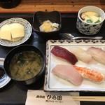 ひら田 - 寿司定食=860円