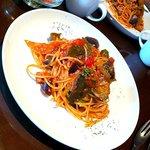 DIVA - 茄子とトマトのパスタ(ランチセット)