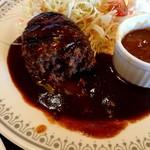 レストラン明治亭 - ハンバーグの断面