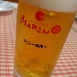 ピッツェリア マリノ - ドリンク写真:生ビール