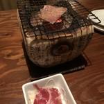 燦醸小町 蔵米 - お通しの牛タン