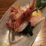 燦醸小町 蔵米 - シマエビのお刺身 670円