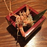 燦醸小町 蔵米 - お刺身後の頭唐揚げ