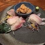 燦醸小町 蔵米 - 桜ガレイの刺身 580円