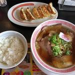 幸楽苑 - 料理写真:中華そば、餃子ライスセット