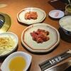 はま屋 - 料理写真:八千代ラム790円(税別)みそ、タレ。昼食セット210円(税別)ライス、サラダ、味噌汁